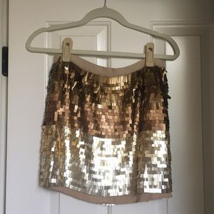 Calypso St. Barth size SMALL metallic skirt